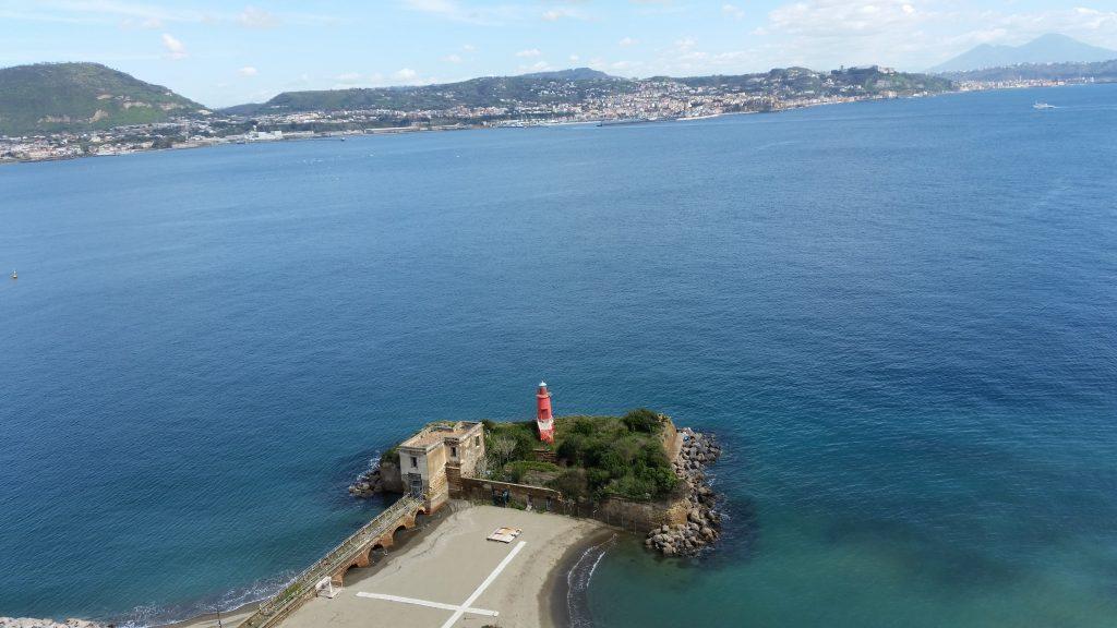 Uitzicht archeologisch museum Campi FLegrei