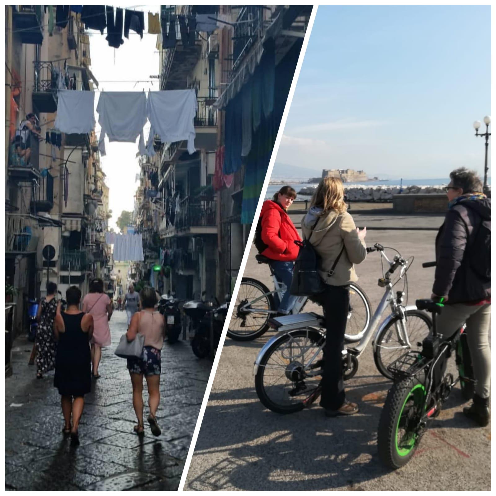 combi wandel fietstour in Napels
