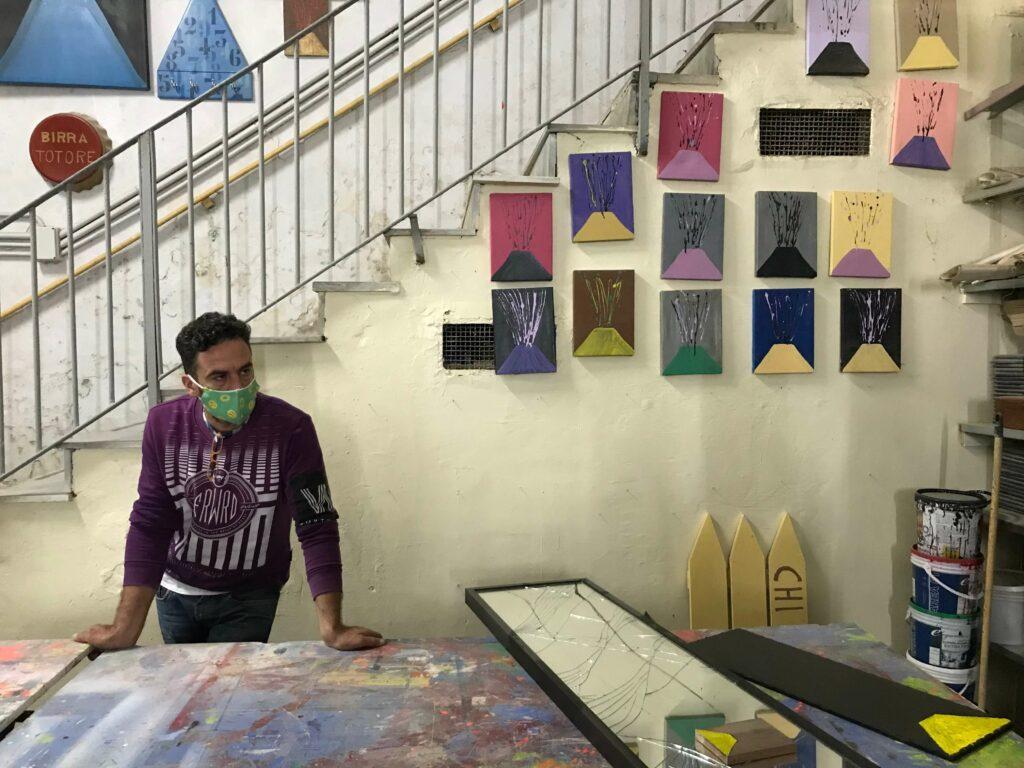 De schilderijtjes bezoek Salvatore