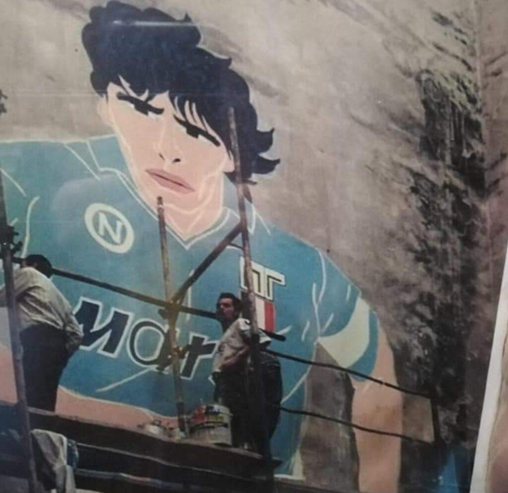 muurschildering Maradona in Napels